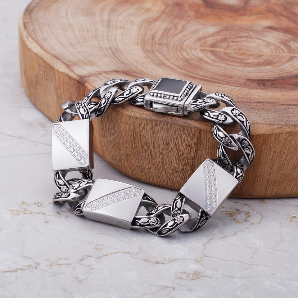 Carved Symmetrical Square Punk Bracelets - GiftWorldStyle - Luxury Jewelry and Accessories