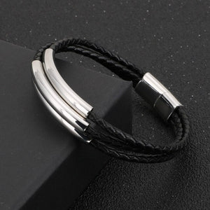 Three Layer Cowhide Leather Bracelet - GiftWorldStyle - Luxury Jewelry and Accessories