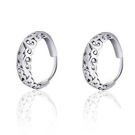 Ethnic Round Earrings - 925 Sterling Silver - GiftWorldStyle - Luxury Jewelry and Accessories