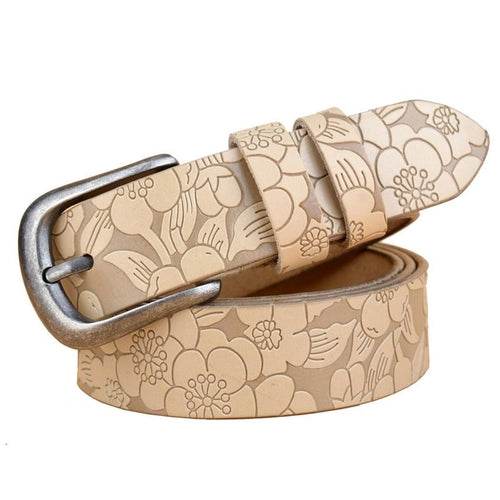 Women Leather  Belt With Fashion Pin Buckle - GiftWorldStyle - Luxury Jewelry and Accessories