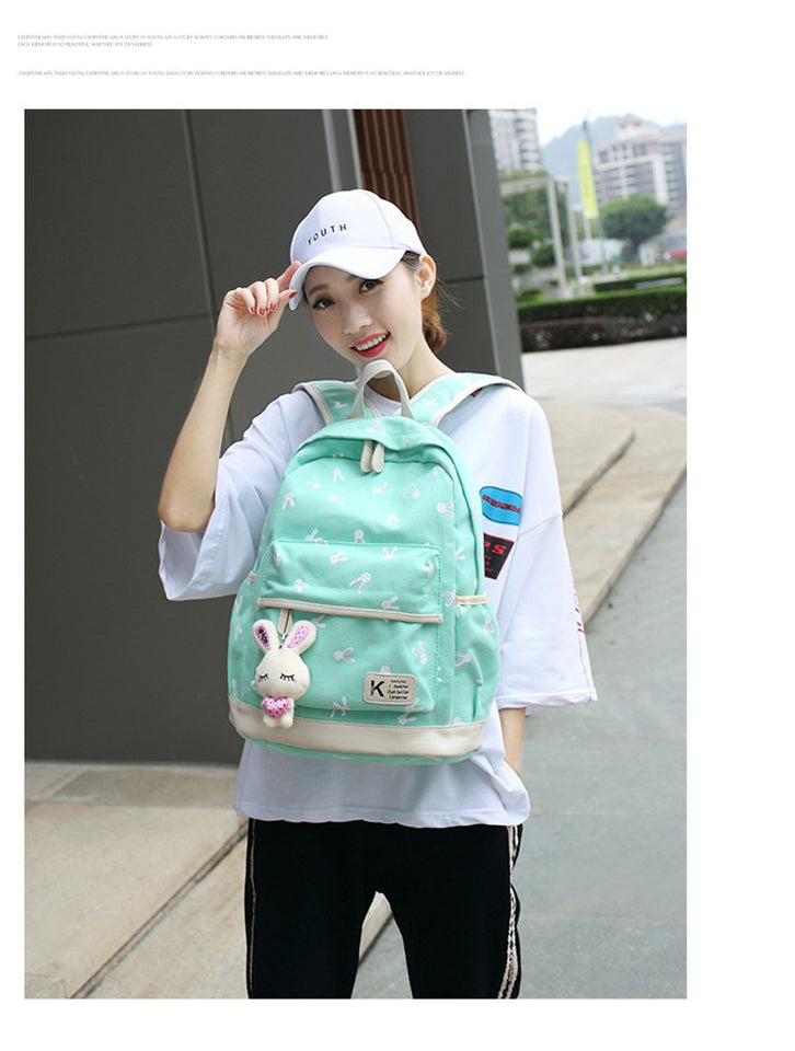 School Bags for Teenager With Cute Plush Rabbit - GiftWorldStyle - Luxury Jewelry and Accessories