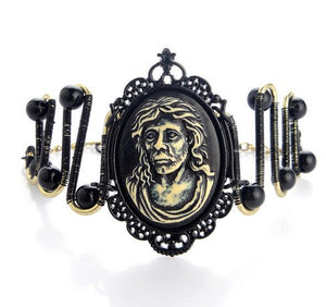Steampunk Mechanical Bracelet With Wise Men Head Portrait - GiftWorldStyle - Luxury Jewelry and Accessories