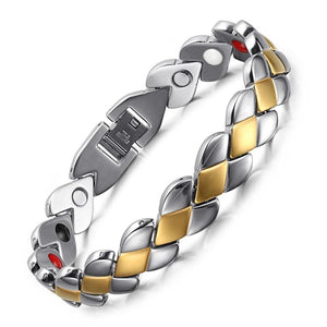 Carbon Fiber Shield Design Full Magnetic Bracelet - GiftWorldStyle - Luxury Jewelry and Accessories