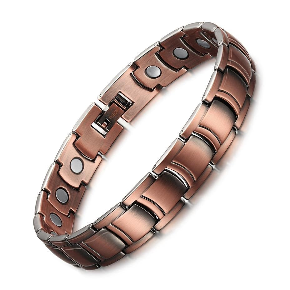Men's Copper Magnetic Therapy Bracelets With Bio Energy For Arthritis - GiftWorldStyle - Luxury Jewelry and Accessories