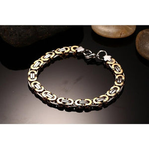 Biker Chain Bracelet - Stainless Steel - GiftWorldStyle - Luxury Jewelry and Accessories