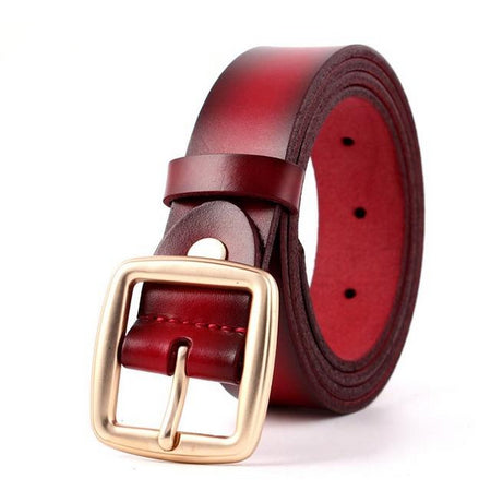 Women's Vintage Cowskin Leather Belt - GiftWorldStyle - Luxury Jewelry and Accessories