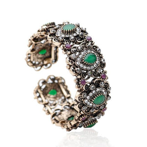Turkish Flower Vintage Cuff Bangle - Adjustable