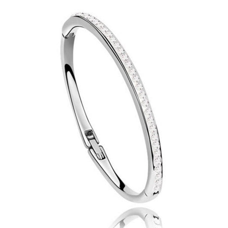Classic Design Crystal Bangle With Czech Crystals - GiftWorldStyle - Luxury Jewelry and Accessories