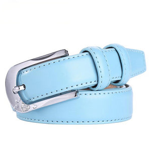 Leather Dress Belts Women Wedding Accessories Belt White Wedding Bling Diamond Decor Pin Buckle