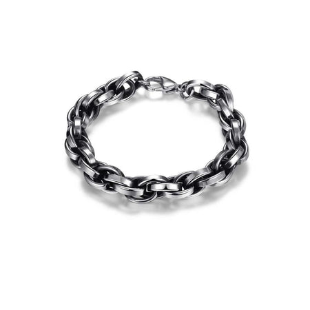 Geometric Men Chain & Link Bracelet With Lobster Clasp - GiftWorldStyle - Luxury Jewelry and Accessories