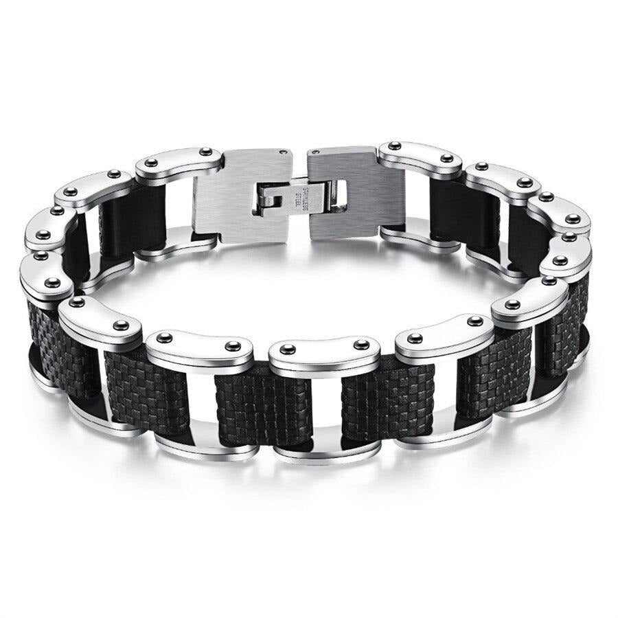 Motorcycle Bracelet - Double Safety Clasp - GiftWorldStyle - Luxury Jewelry and Accessories