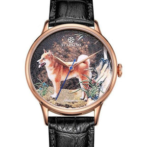 Quartz Watch With Sapphire And High-end Dial With Cows, Water Resistant - GiftWorldStyle - Luxury Jewelry and Accessories