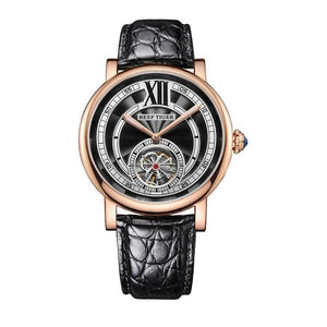 Tourbillon Automatic Watch With Alligator Strap, Crystal And  Luminous Hands - GiftWorldStyle - Luxury Jewelry and Accessories