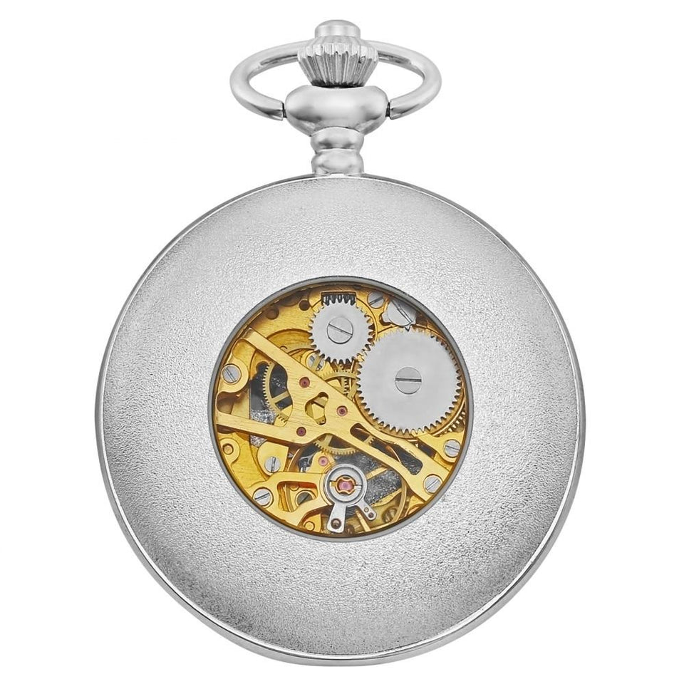 Mechanical Silver Alloy Pocket Watches With Antique Copper Roman Number - GiftWorldStyle - Luxury Jewelry and Accessories