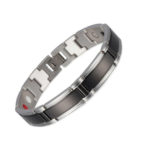 Men's Magnetic Bracelet With Punk Stainless Steel Chain,Pearl-clasps