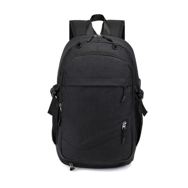 Waterproof School Bag With USB Port, Big Zippers - GiftWorldStyle - Luxury Jewelry and Accessories