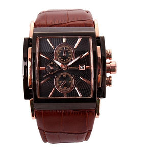 Quartz Watch With Analog Big Dial And Leather Strap - GiftWorldStyle - Luxury Jewelry and Accessories