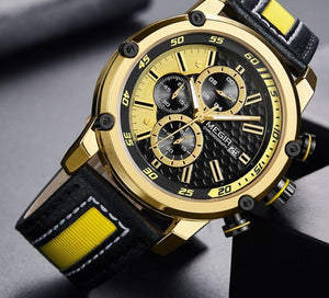 Men's Analogue Watches With Waterproof Leather Strap With Luminous Hands - GiftWorldStyle - Luxury Jewelry and Accessories