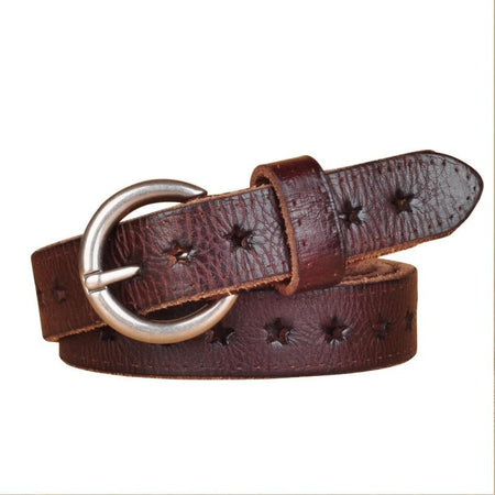 Popular Women Belt With Genuine Cow Skin and Hollow - GiftWorldStyle - Luxury Jewelry and Accessories