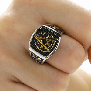 Jewelry Men's Masonic Ring Stainless Steel AG Mason Master Ring Freemason Vintage Finger Gold Rings