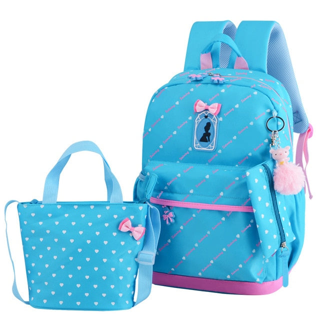 School Backpack With Star Printing With Two Additional Bags - GiftWorldStyle - Luxury Jewelry and Accessories