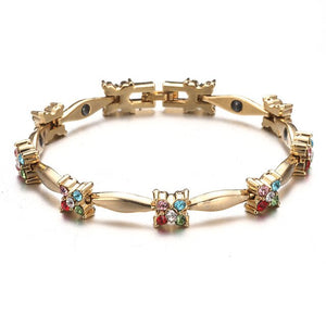 Magnetic Bracelet With Colorful Crystal Gem For Bio Energy Balance - GiftWorldStyle - Luxury Jewelry and Accessories