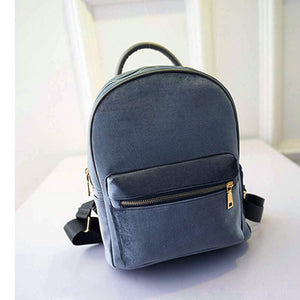 Women's Velvet Veludo Mini Backpack With Zipper