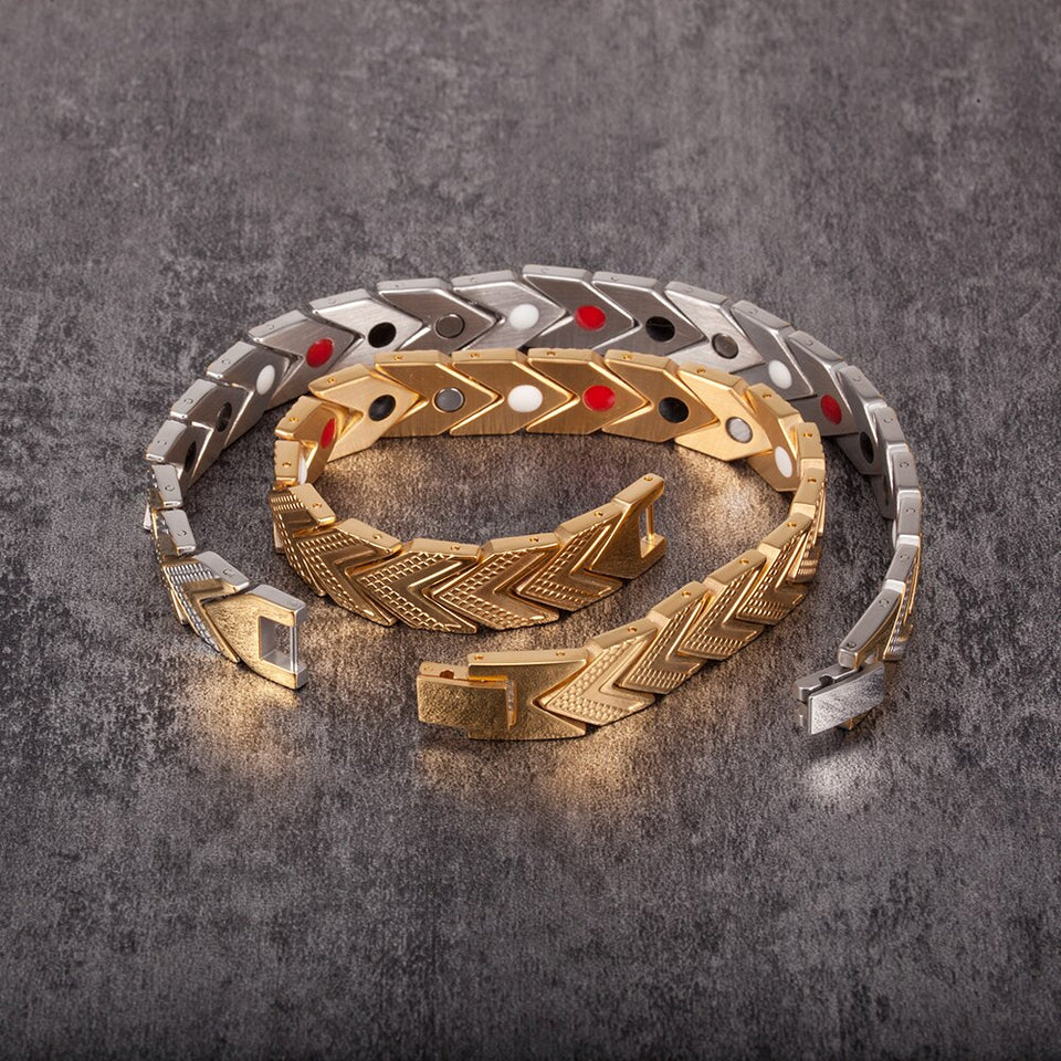 Energy Magnetic Bracelet From Stainless Steel With Germanium Jewellery - GiftWorldStyle - Luxury Jewelry and Accessories