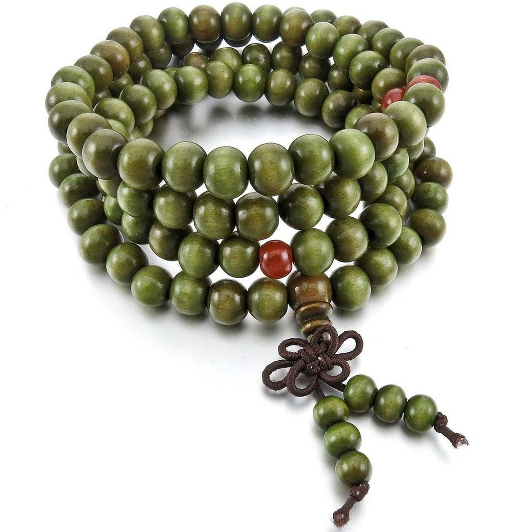8mm Tibetan Buddhist Beads in Buddha Prayer Style - GiftWorldStyle - Luxury Jewelry and Accessories