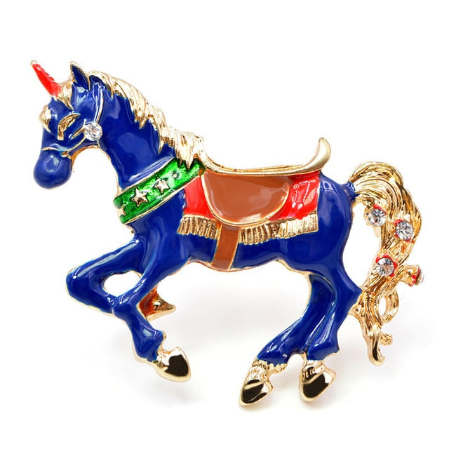 Enamel Unicorn Unicorn Horse Animal Pin Brooch