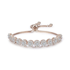 Round Cubic Zircon Silver Color Elegant Women Tennis Bracelets for Women Bracelet Jewelry