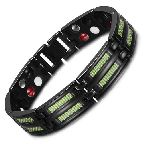 4 Health Elements Titanium Bracelet For Men With Toggle-clasps