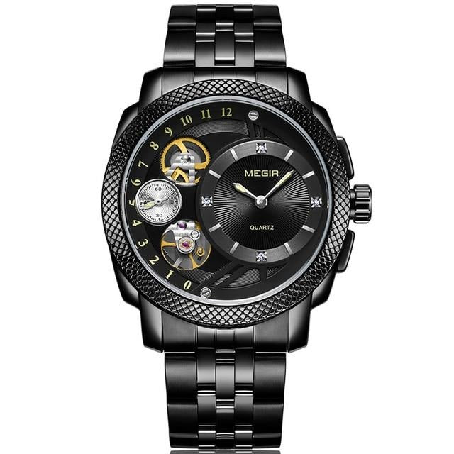 Smart Quartz Watches for Men With Analogue Waterproof Dial, Luminous Hands - GiftWorldStyle - Luxury Jewelry and Accessories