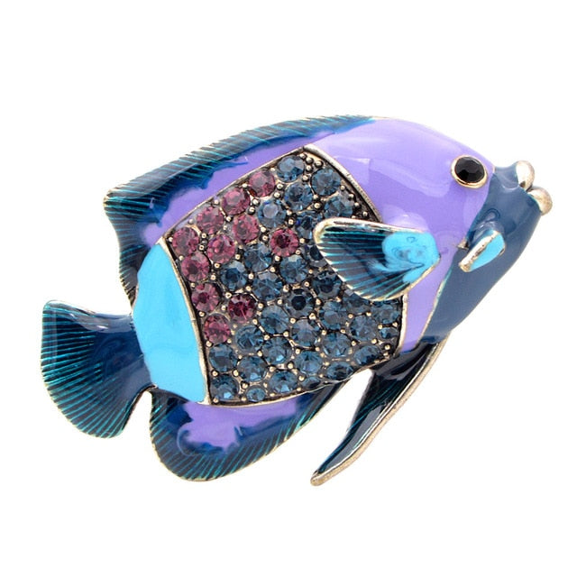Enamel Clownfish Animal Brooches For Women