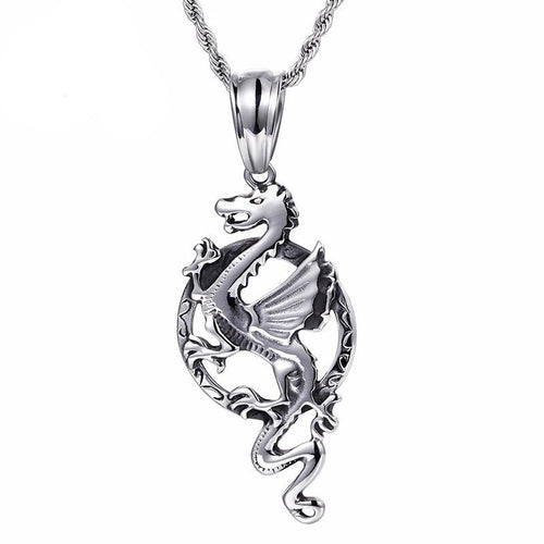 Animal Dragon With Long Chain Necklace - GiftWorldStyle - Luxury Jewelry and Accessories
