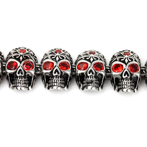 Gothic Skeleton Skull Head Bracelet - GiftWorldStyle - Luxury Jewelry and Accessories