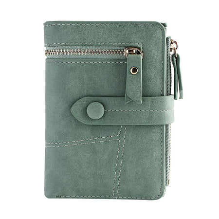 Women's Short Wallet With Zipper And Card Holders,Standard Wallets