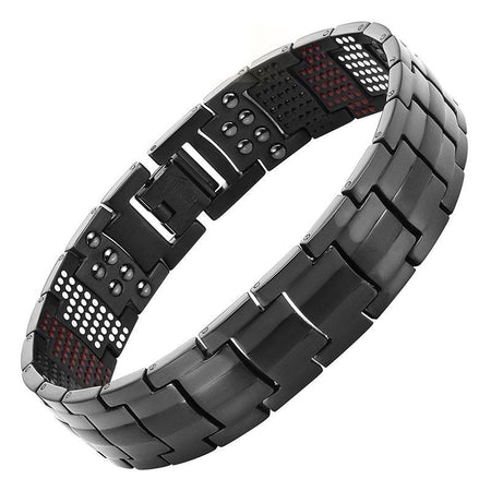 Magnetic Black Titanium Bracelet - GiftWorldStyle - Luxury Jewelry and Accessories