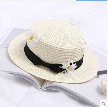 Boater Sun Hat with Ribbon And Daisies - GiftWorldStyle - Luxury Jewelry and Accessories