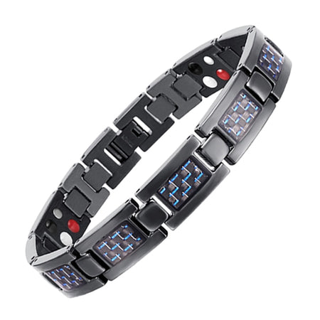 Titanium Magnetic Bracelet With Blue Plated For Bio Energy Magnetic Therapy