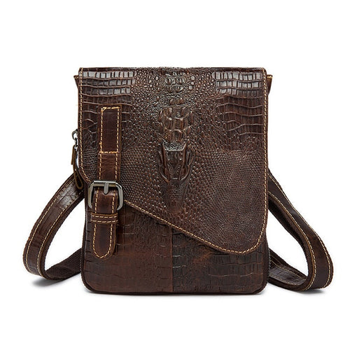 Waist Bag From Genuine Leather With Strap And Clasp - GiftWorldStyle - Luxury Jewelry and Accessories