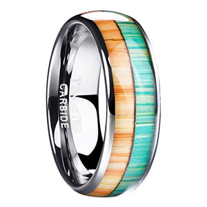 Men's Colorful Tungsten Carbide Ring - GiftWorldStyle - Luxury Jewelry and Accessories