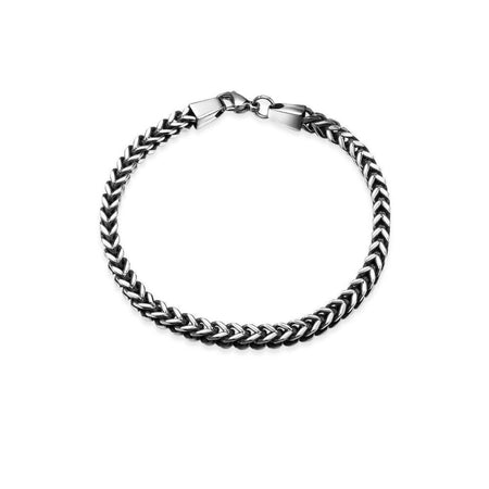 Geometric Design Men Chain & Link Bracelet With Lobster Clasp - GiftWorldStyle - Luxury Jewelry and Accessories