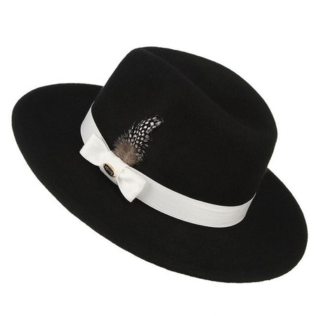 Men's Fedora Hat With Retro Ribbon - GiftWorldStyle - Luxury Jewelry and Accessories