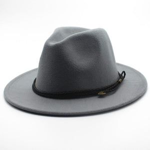 Special Felt Hat Men Fedora Hats Belt Women Vintage Trilby Caps Wool Fedora Warm Jazz Chapeau