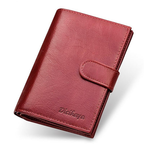 Women's Genuine Leather Wallet With Cover And Large Capacity