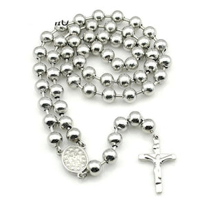 Jesus Rosary Beads Necklace Stainless Steel - GiftWorldStyle - Luxury Jewelry and Accessories