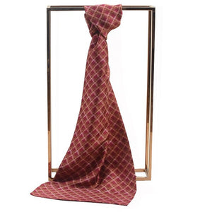 Plaid Men Silk Scarves Accessories Autumn Winter Male Pure Silk Long Scarves Cravat 170*30cm