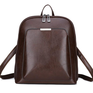 Women's Vintage Large-Capacity Leather Backpack
