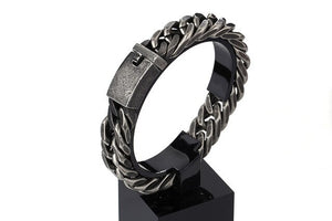 Brush Bike Chain Oxidized Bracelet - GiftWorldStyle - Luxury Jewelry and Accessories